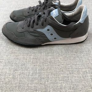 Saucing Bullet charcoal pale blue sneakers 8.5